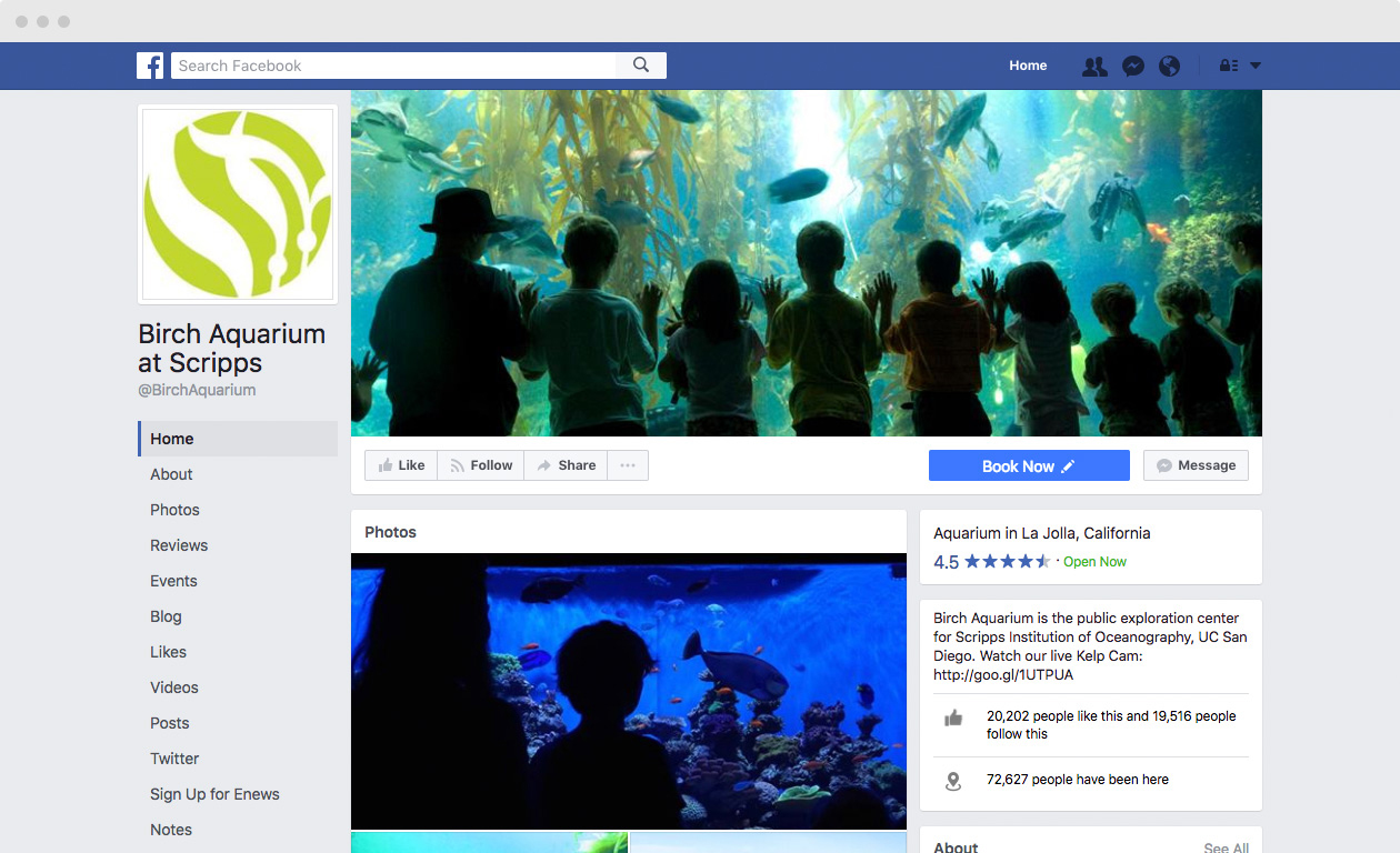 The Birch Aquarium | Our Work | Motionstrand Digital Agency